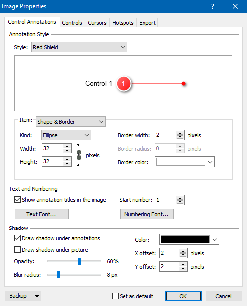 Customizing the Style and Formatting of Control Annotations
