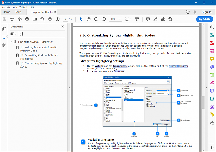 Adobe PDF Document Created with HelpSmith