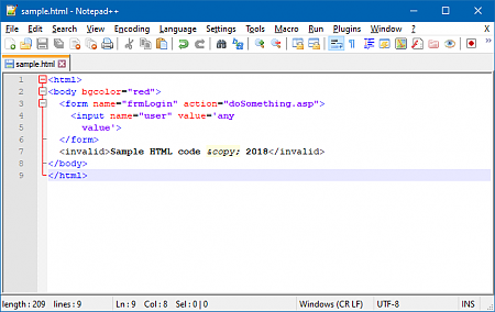 Copying Program Code from Notepad++