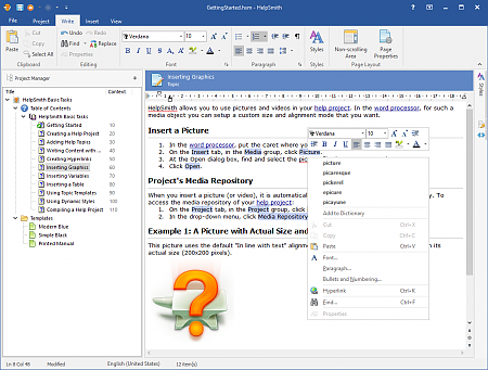 Spell Checker in Built-in Word Processor