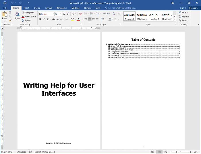 Microsoft Word Document Created with HelpSmith